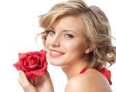 Woman beauty with heart — Stock Photo