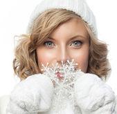 Woman winter — Stock Photo