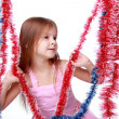 Stock Photo: Christmas little girl