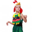 A little girl dressed as a rooster — Stock Photo #17846561