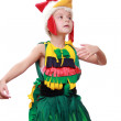 A little girl dressed as a rooster — Stock Photo #17846575