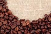 Cerchio di chicchi di caffè — Foto Stock