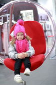 Little girl sitting — Stock Photo
