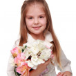 Little girl with a bouquet — Stock Photo #18017691