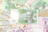 Ukrainian money background — Stock Photo