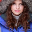 Portrait оf beautiful womin warm clothing winter — Stock Photo #19151613