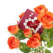 Roses with a valentines day card — Stock Photo #19443881