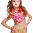 Hawaiian Hula Dancer Girl - Stock Photo