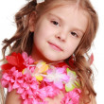 Hawaiian Hula Dancer Girl — Stock Photo #19899163