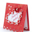 "Foto Stock: Lovely greeting card design with ""I love you"""