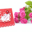 Romantic card Happy Valentine — Stock Photo