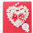 Foto de Stock  : Greeting card design on Valentine Day