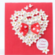 Stok fotoğraf: Greeting card design on Valentine Day