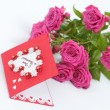 Greeting card Happy Valentine  — Stock Photo