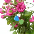 Roses with  hearts - Foto Stock