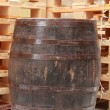 Old wooden barrel — Stock Photo