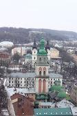 Dachy we lwowie, ukraina — Zdjęcie stockowe