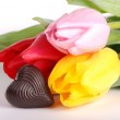 Tulips with  candy — Stock Photo #21540891