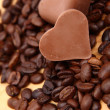 Chocolate heart-shaped candies — Stock Photo