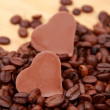 Chocolate heart-shaped candies — 图库照片