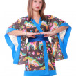 Girl in a kimono — Stock Photo