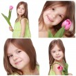 Cute little girl — Stock Photo