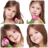 可爱的小女孩 — 图库照片