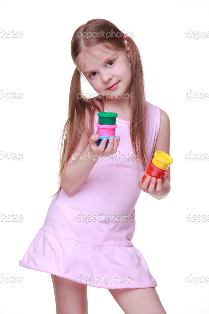 Cute Girl Pink Dress Cute Little Girl in Pink Dress