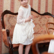 Stock Photo: Lovely little girl in beautiful dress