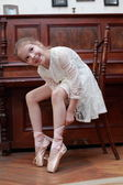 Bailarina em pointes — Foto Stock