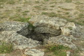 Ancient well on the excavation of the ancient city of Pantikapaion — Stock Photo