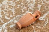 Vintage Amphora against the sea landscape — Stock Photo