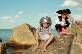 Fancy Dress Pirates — Stock Photo
