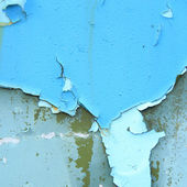 Background of peeling blue paint — Stock Photo