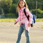 Cute smiling schoolgirl — Stock Photo