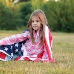 krásná malá americká — Stock fotografie