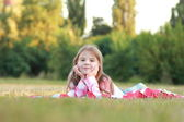 Happy adorable little girl — Stock Photo