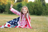 Beautiful little American — Stock Photo