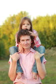 Father and his daughter — Stock Photo