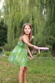 Kavkazská roztomilá holčička — Stock fotografie