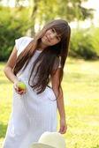 Carina ragazza felice — Foto Stock
