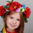 Little girl in the Ukrainian national costume  — Stock Photo