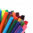 Bright markers isolated on white — Stock Photo