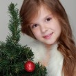 Girl holding a Christmas decoration — Stock Photo #31882155