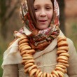 Little girl in russitraditional kerchief — Stock Photo #34627839