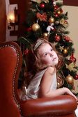 Princess near the fur-tree — Stock Photo