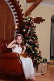 Princess near the fur-tree — Foto de Stock