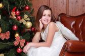 Little girl as an angel — Stock Photo