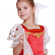 Young girl dance in Russian national suit — Stock Photo #35325079
