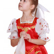 Young girl dance in Russian national suit — Stock Photo #35324417